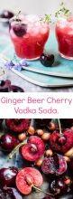 Ginger Beer Cherry Vodka Soda | halfbakedharvest.com @hbharvest