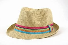 Amazon.com: Summer Cool Straw Hipster Fedora Hat Colorful Band 119HF (Natural): Clothing