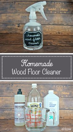 "Homemade Hardwood Floor Cleaner For Sparkling Floors. Take your hardwood floors from dull to ""oh la la!"" with this homemade hardwood floor cleaner."