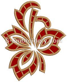 10060 Cutwork Lace Leaf Embroidery