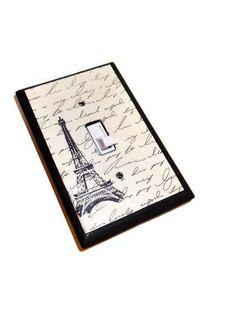 Paris Home Decor  Eiffel Tower Wood Switch by HookUUpCustomCrafts, $15.00
