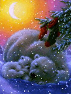 Download Animated 240x320 «Новогодняя ночь» Cell Phone Wallpaper. Category: Holidays