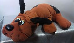 "Vintage 1985 Large 17"" Tonka Pound Puppies Brown Stuffed Animal Plush Puppy Toy  #Tonka"