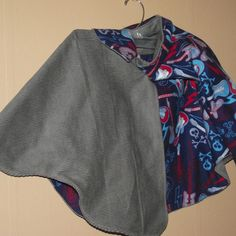 Children's Cape.  Rock n Roll - Grey with blue guitars, no hood from B's Bounty for $45.00