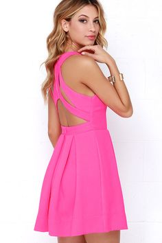 Perfect for Miami! LULUS Exclusive Test Drive Neon Pink Dress at Lulus.com!