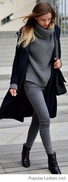 grey-jeans-and-sweater-with-a-black-coat