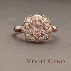 Hey, I found this really awesome Etsy listing at https://www.etsy.com/listing/256614577/morganite-rose-gold-ring-morganite