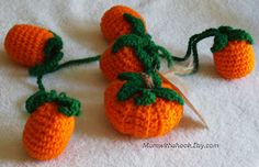 Sara Duggan - Writer and Blogger: Free Crochet Pattern: Pumpkins on a Vine