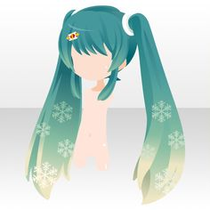 Snow Miku Manga Hair, Anime Hair, Fashion Games For Girls, Chibi Hair, Hair Sketch, Cocoppa Play, Star Girl, Hatsune Miku, Hair Designs