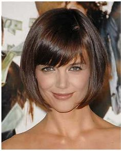 Thinking of cutting back into a bob once I reach goal weight by my birthday in August..... this is pretty and chic.  Katie Holme's Bob Hairstyles