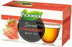 Eperízű fekete tea eperdarabokkal  #pickwick #tea