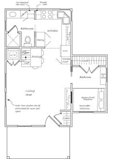 16x28 Tiny Houses 2 Bedroom 15 Bath PDF by ExcellentFloorPlans