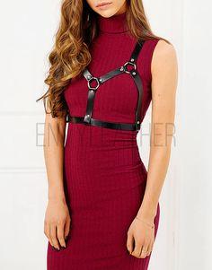 Women harness belt   leather harness  body harness