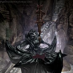 The altar of the Daedric Prince Molag Bal, upon which rests his rusted Mace