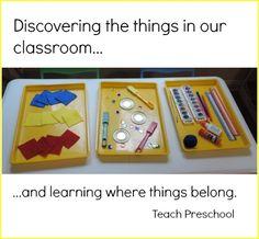 Learning where things belong in the preschool classroom by Teach Preschool