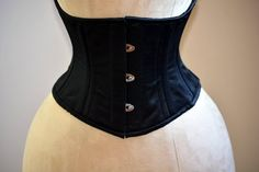 Classic satin steel-boned authentic waspie corset for tight lacing and waist training. Sale from stock listing Waist Cincher Corset, Overbust Corset, Best Shapewear For Tummy, Pinup, Best Corset, Satin, Vintage Burlesque, Boned Corsets, Lace Tights