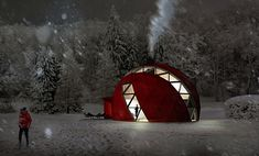 Geodesic domes on pinterest geodesic dome dome homes - Casa prefabricada autosuficiente ...