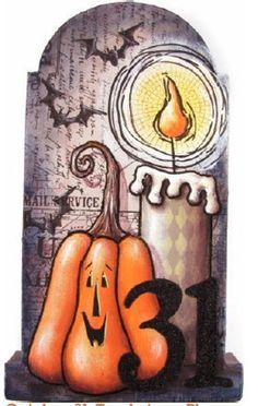 October 31 by Chris Haughey Halloween Canvas, Halloween Rocks, Halloween Painting, Halloween Signs, Holidays Halloween, Halloween Crafts, Halloween Decorations, Harvest Decorations, Halloween Stuff