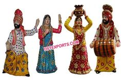 #Punjabi #Bhangra #Statues #For #Center #Table #Decoration #Dstexports