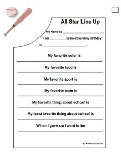Hey guys! This year at The Grove our theme is Sports/Teamwork so I made this super cute get to know you worksheet for the students to fill o...