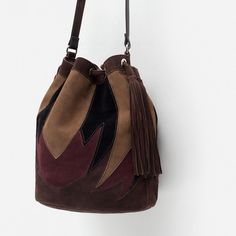 Image 3 of LEATHER BUCKET BAG from Zara