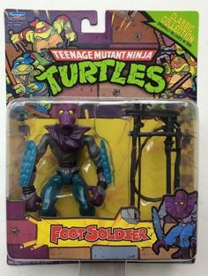 TMNT Retro Classic Collection Reissue Foot Soldier New in Package Exclusive Fig! #Playmatestoys