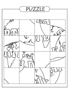 Föld napi puzzle Earth Hour, Earth Day, Maths Puzzles, Stem Activities, Colouring Pages, Ecology, Green Day, Kindergarten, Homeschool