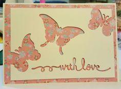 Negative space words, butterflies, over dsp.