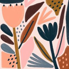 The Future Of Art – Investment Concepts – Buy Abstract Art Right Plant Illustration, Graphic Illustration, Watercolor Pattern, Abstract Pattern, Abstract Flowers, Abstract Art, Graphic Pattern, Floral Illustrations, Gravure