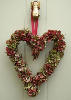 Pink Hydrangea wreaths | greengarland: Hydrangea Wreaths