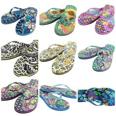 Vera\'s Flip Flops in 8 color choices - new w/tags. Starting at $19