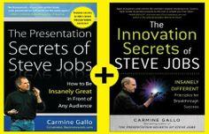 The Business Secrets of Steve Jobs: Presentation Secrets and Innovation secrets all in one book! by Carmine Gallo, http://www.amazon.com/dp/B005Z4M6YO/ref=cm_sw_r_pi_dp_iaM0rb1D07C41