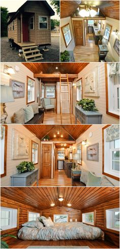 Off-Grid 272 Square Foot Tiny House on Wheels for $65,000 - A home known as the Pioneer Tiny House by Tiny House Building Company recently sold in Fredericksburg, Virginia and we hate that we missed our chance to snag this beauty! The off-grid tiny house on wheels was designed to live off-grid but it didn't skimp on style to make it happen. We love everything about it starting with the shingled siding and red door on the exterior and this adorable tiny house can be yours unfurnished for…