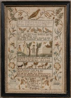antique sampler