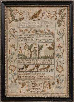 Rhode Island sampler - Rebecca Willbor 1793