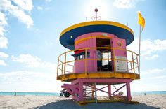 Pink Lifeguard station