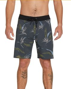 JERECY Mens Swim Trunks Day of The Dead Horse Floral Quick Dry Board Shorts with Drawstring and Pockets