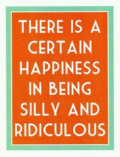 silly an ridiculous is more fun