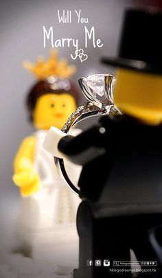 Lego Photography propose marriage Bride Photography, Lego Photography, Lego Star Wars, Legos, Lego Wedding, Foto Fun, Lego People, Lego Man, Lego Minifigs