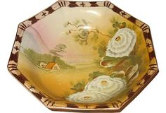 Vintage Hand-Painted Nippon Bowl curated by Kelly Gray Collection