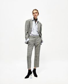 ZARA - WOMAN - CHECKED TROUSERS