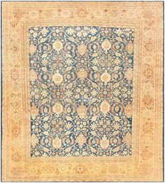 Antique Persian Sultanabad Rug by Zigler 47111 Main Image - By Nazmiyal