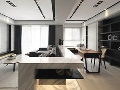 Capture the of design with a sleek modern environment Living Room Interior, Home Living Room, Home Interior Design, Living Area, Interior Architecture, Living Room Designs, Living Spaces, Plafond Design, Light In