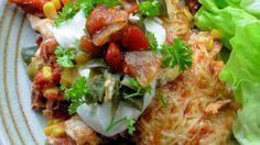 Smoky Chicken and Chorizo Mexican Enchilada Baked Casserole