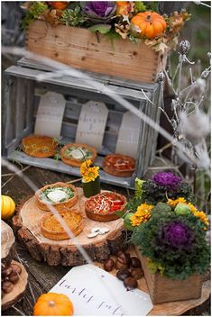 Wedding catering ideas in Autumn | Image by Nadine Court Photography on French Wedding Style