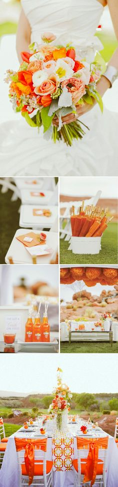 """tangerina wedding inspiration"""