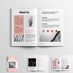 Project Proposal Corporate Identity Template New Screenshots BIG Magazine Layout Design, Book Design Layout, Print Layout, Design Blog, Graphic Design Projects, Magazine Layouts, Design Design, Corporate Brochure Design, Corporate Identity