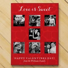 Love is Sweet   Red Hearts Valentines Day Photo Chocolate Count Down Calendar #gifts #valentinesday