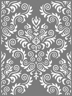 große Schablonen – Buntstück Hamburg Laser Cut Patterns, Stencil Patterns, Stencil Designs, Damask Patterns, Cajas Silhouette Cameo, Silhouette Mint, Bathroom Towel Decor, Laser Cut Panels, Large Stencils