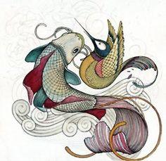 Fish & Humming bird design